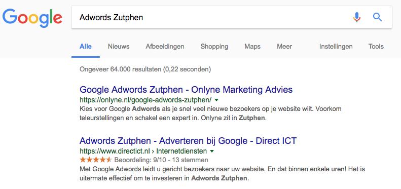 Adwords specialist Zutphen